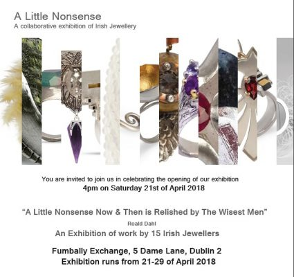 Flyer for A Litle Nonsense Exhibition featuring Christina Keogh