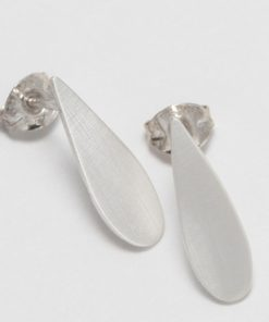 Silver Raindrop Earrings Small