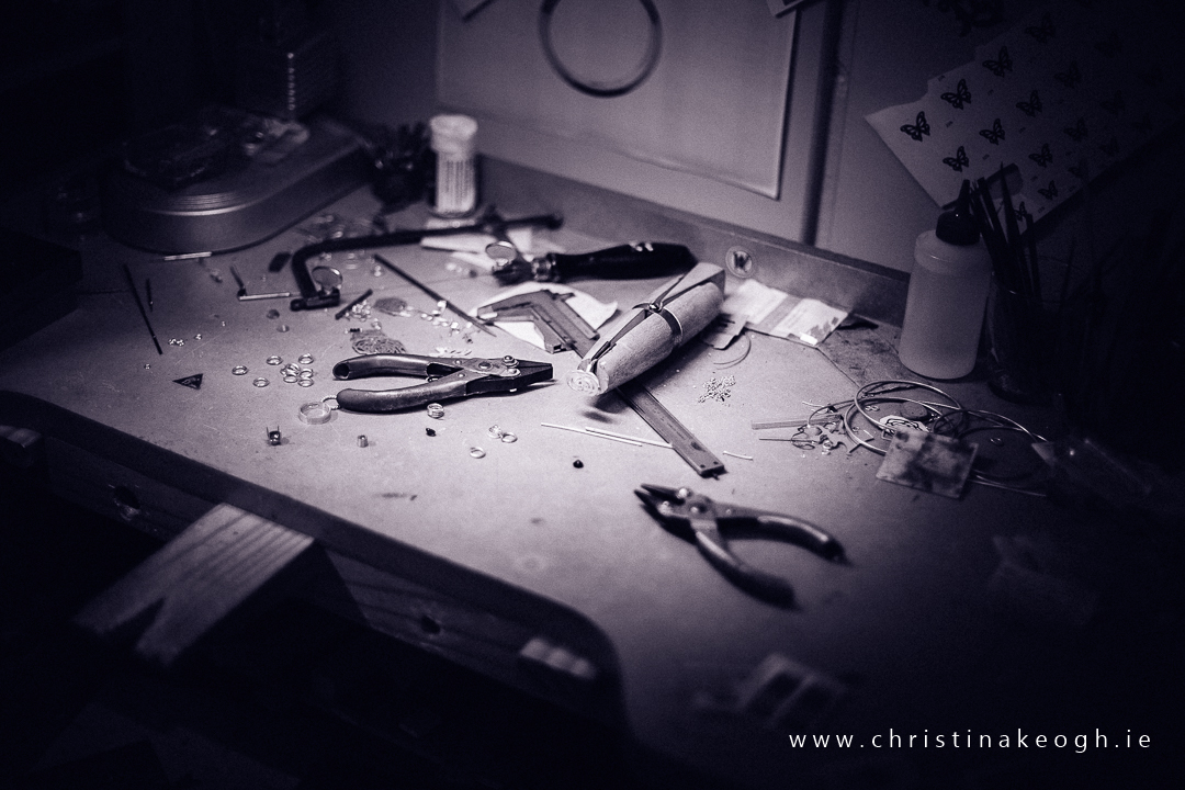 Jewellery studio work bench